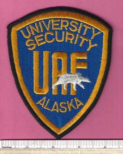 University Alaska Fairbanks AK Law Enforcement Security Police Shoulder Patch