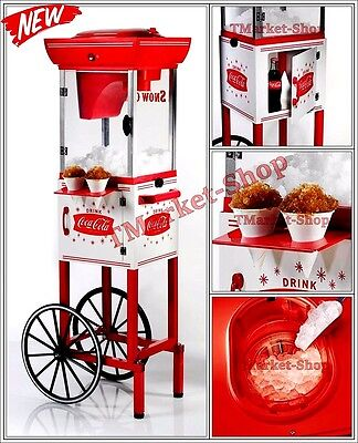 Coke Premium Machine Commercial Coca Cola Snow Cone Cart Maker Shaved Ice Cub