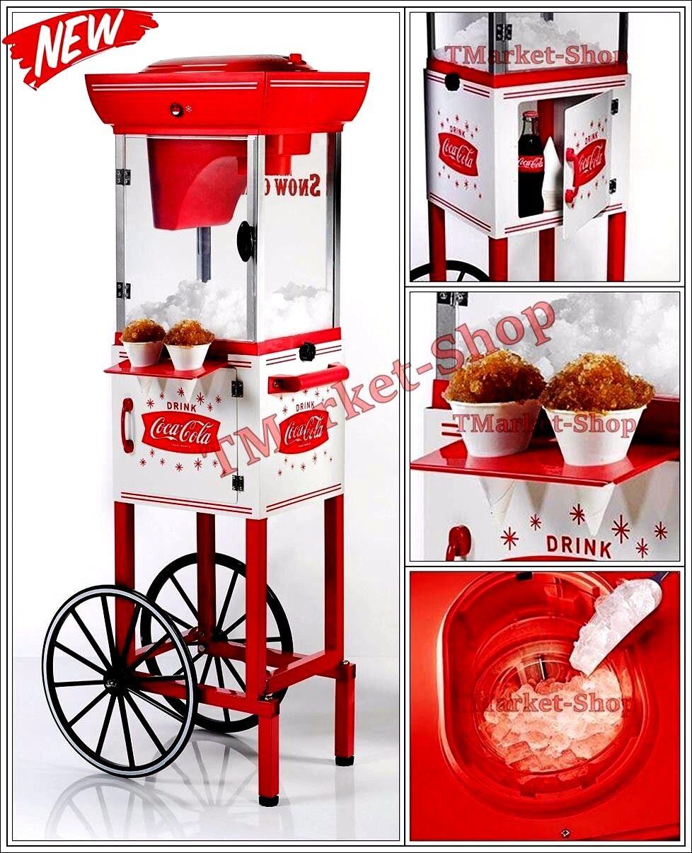 coke premium machine commercial coca cola snow cone cart maker shaved ice cub - Sno Cone Machine