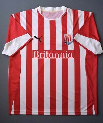 4.6/5 STOKE CITY 2005-2006 FOOTBALL SOCCER HOME SHIRT JERSEY PUMA SIZE XL image