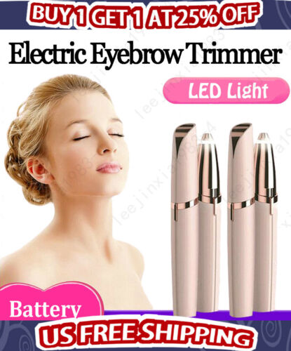 Electric Face Eyebrow Hair Remover Painless Trimmer Facial S