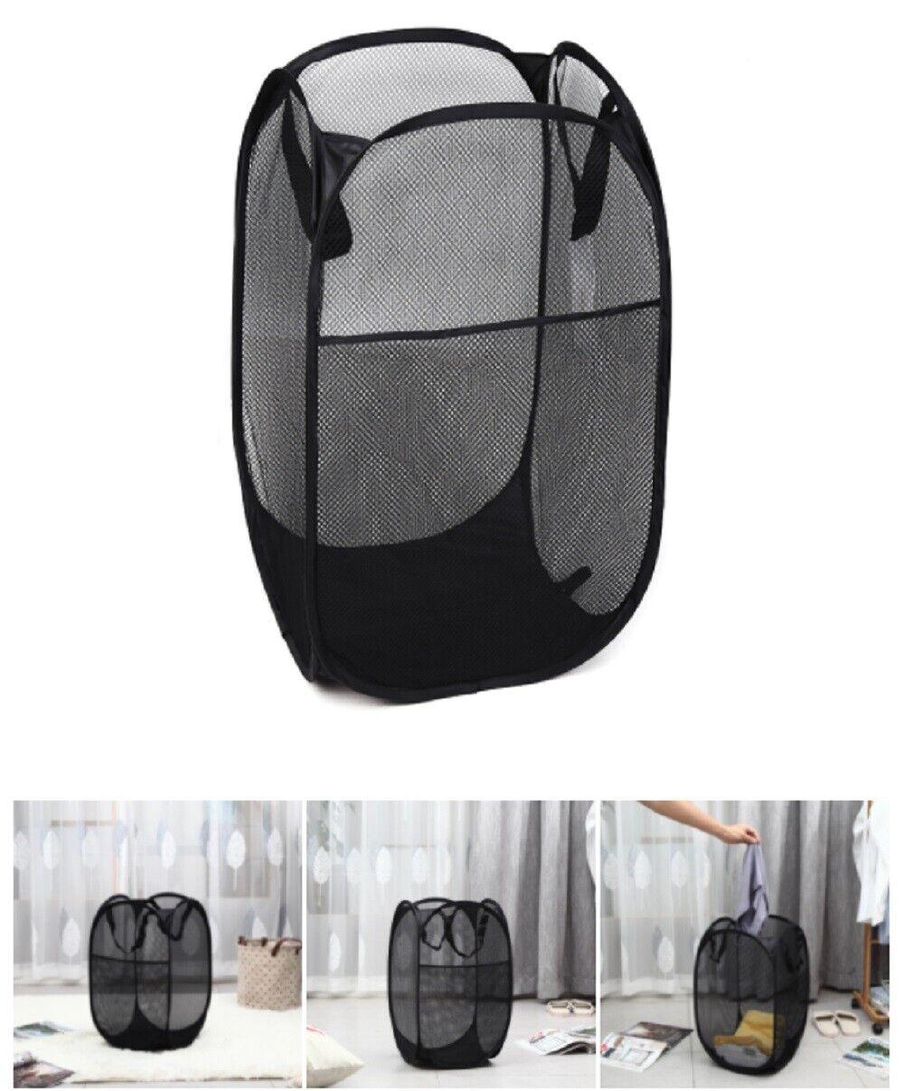 Large Foldable Storage Laundry Hamper Clothes Basket Nylon Laundry Washing Bag Home & Garden