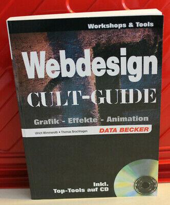 DATA BECKER Ulrich Wimmeroth/Thomas Brochhagen: Webdesign Cult-Guide - neuwertig