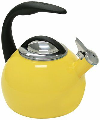 Chantal 40th Anniversary 2-Quart Enamel on Steel Tea Kettle, Canary Yellow