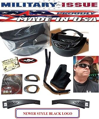 Wiley X SG-1 Z87-2 Tactical Goggles Matte & Black Sunglasses Smoke/Clear