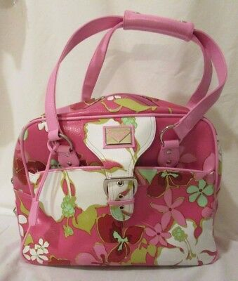 Roxy Quiksilver Luggage Travel Case Overnight Bag Hawaiian Floral Pink
