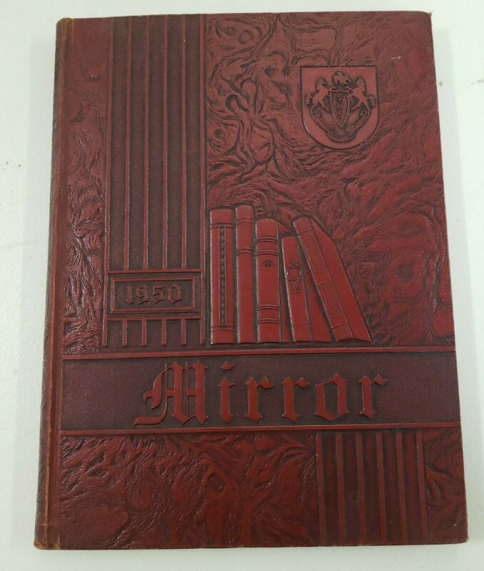 Mirror Sharon High School Pennsylvania Yearbook 1950 Vintage Red