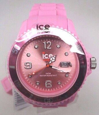 Ice Women Sili Pink Rubber Band Date Oversize Watch 45mm SI.PK.B.S.09 $125
