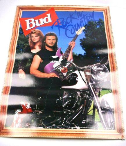 "1992 Bud Budwieser Travis Tritt Poster "" Rock in Country"""