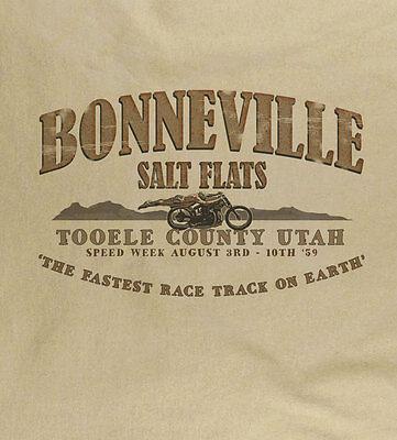 Bonneville '59 Utah Salt Flats Biker Vintage Motorrad Speed Natur T-Shirt - Bonneville Salt Flats