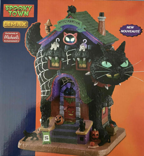 2021 Lemax Spooky Town Halloween in OB:  Meow Mansion - MIB/NRFB!