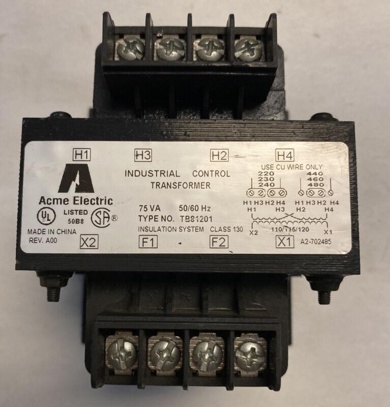 Acme TB81201 Industrial Control Transformer 75VA
