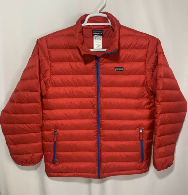 Patagonia Boys Red Down Sweater Jacket Size Large  (14)