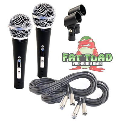 - Recording Vocal Microphone Set - Dynamic Handheld XLR Mic Cable 20FT Clip Studio