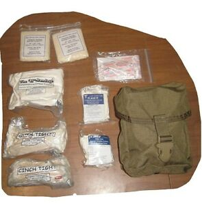 9-pc-Set-MILITARY-ARMY-USMC-COYOTE-IFAK-MOLLE-Individual-First-Aid-Pouch-amp-gear
