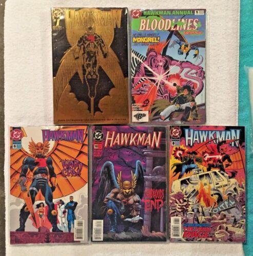 20 HAWKMAN 1993 Series #1 (Gold foil) - #18, 0 + Annual 1 (Aquaman Wonder Woman)