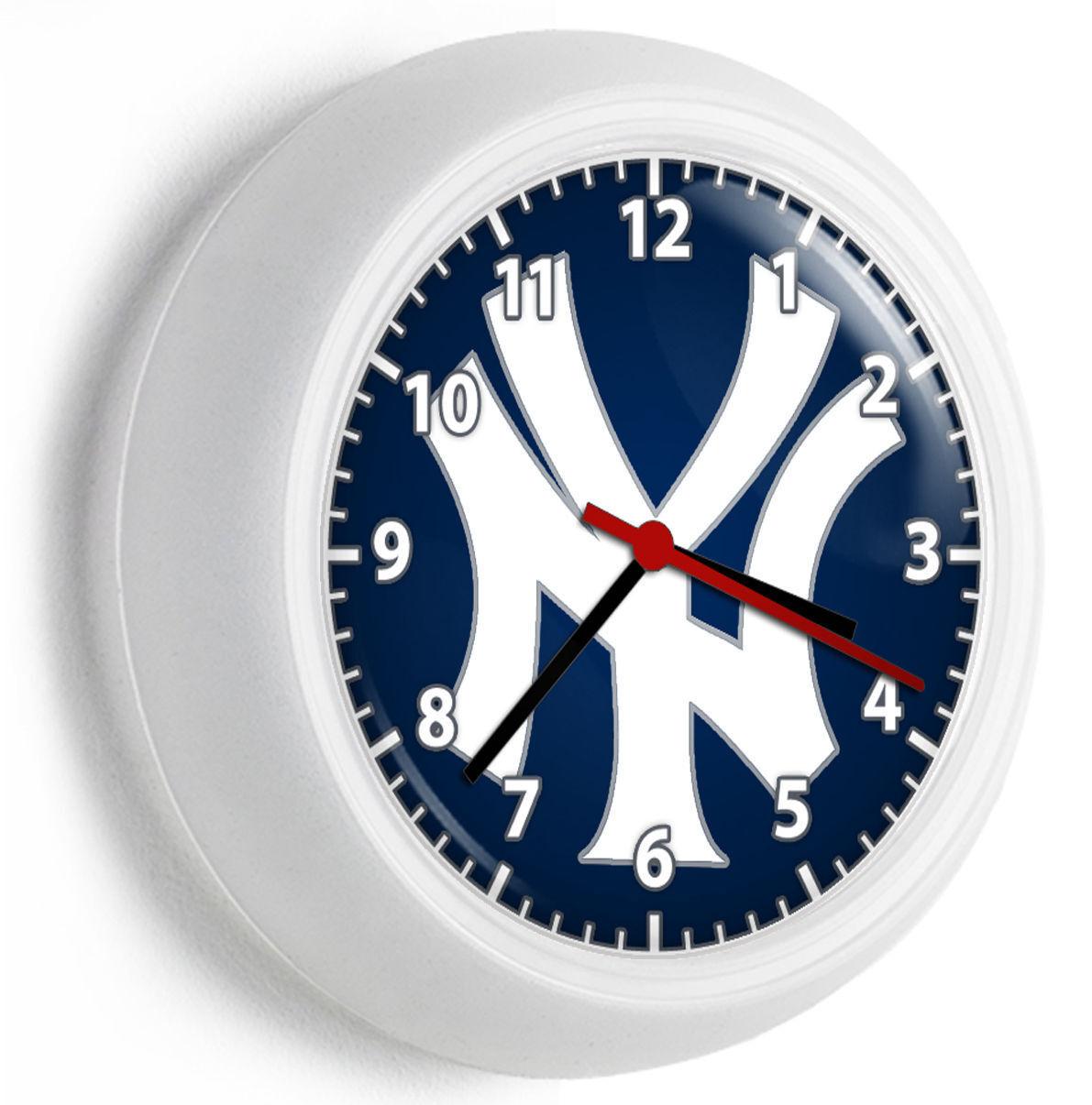 NY NEW YORK YANKEES BASEBALL TEAM LOGO WALL CLOCK MAN CAVE
