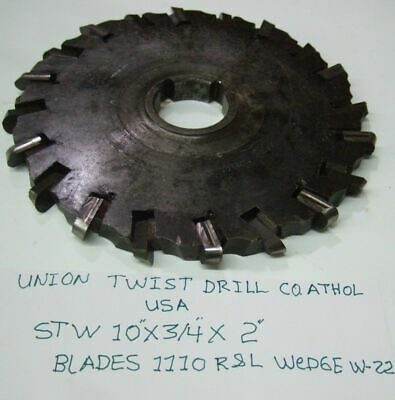 Union Twist Drill 10 X Side Mill Milling Cutter Slot Blades 1110 Wedge W-22