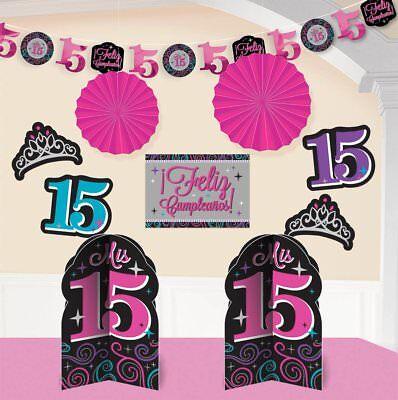 Elegant Party Decorations (Elegant Mis Quince Años Room Decorating Kit Birthday Party Decorations (10)