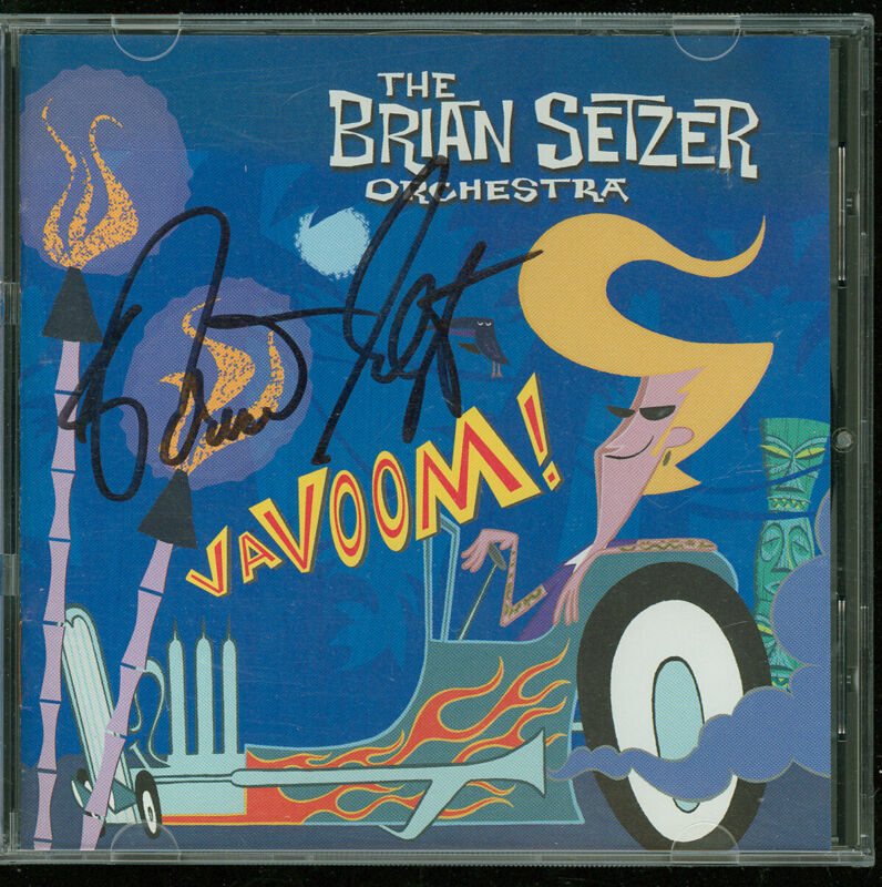 BRIAN SETZER Autographed Signed Vavoom 2000 CD STRAY CATS