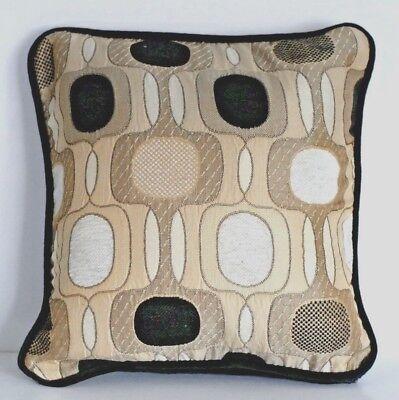 modern contemporary black tan white decorative embroidered pillows for sofa ()