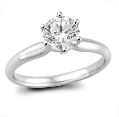 1.20 ct Round Cut Natural G/SI1 Diamond Solitaire Engagement Ring 14K W/Gold