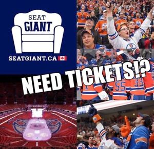 EDMONTON OILERS TICKETS FROM $49 CAD!!