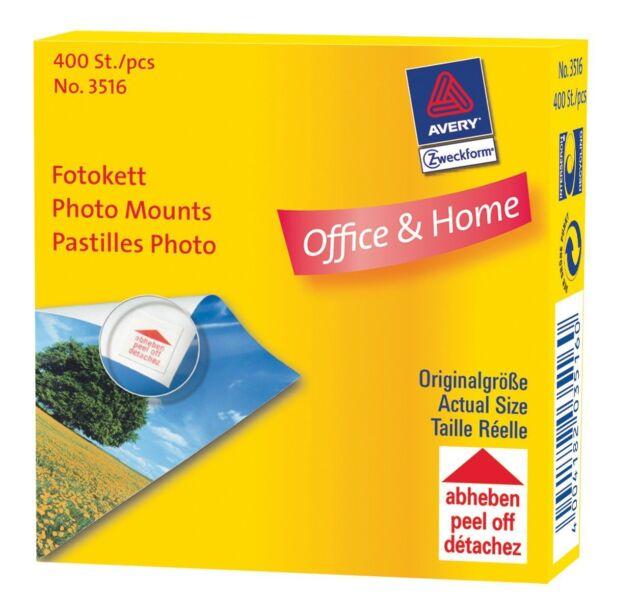 (6I26)   AVERY Zweckform Foto-Kett, 12 x 12 mm, Inhalt: 400 Stück Photo - Ecken