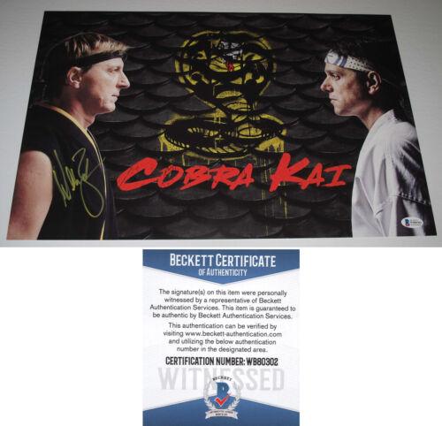 "WILLIAM ZABKA signed ""COBRA KAI"" 12X18 Photo JOHNNY LAWRENCE Karate Kid BAS COA"