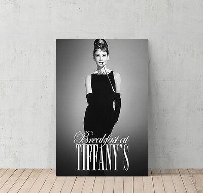 Audrey Hepburn Breakfast at Tiffany`s Decorative Wall Art Canvas Print Modern