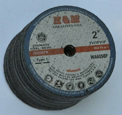 25pcs 2x116x14 Abrasive Cut-off Wheel For Ss Metal Cutting Disc