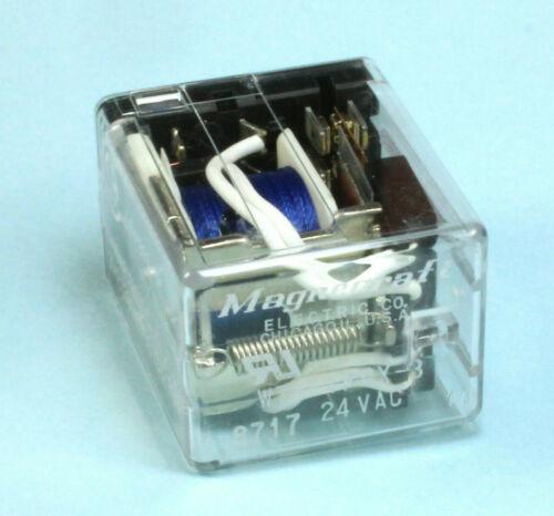 Magnecraft Power Relay 4PDT, 24VAC Coil, 1A at 120VAC or 28VDC, 1/10 HP at 120VA