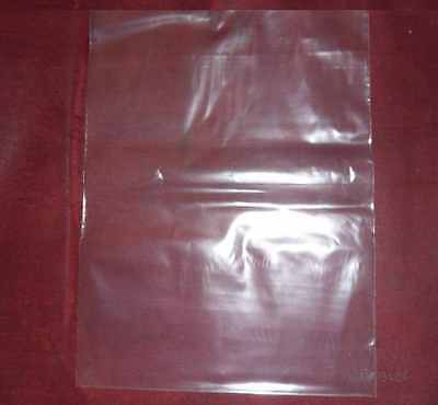 200 Clear 4 x 8 Plastic Flat Poly Bags Open Top / Open End 4