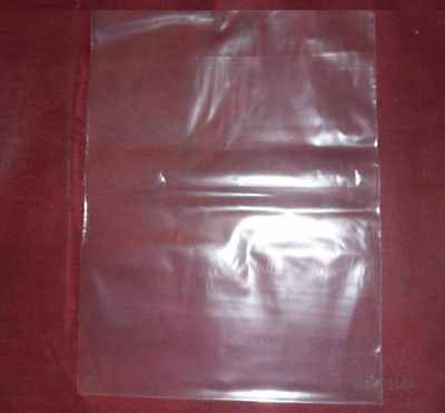 500 Clear 6 x 8 Flat Poly Bags Open Top/Open End 6