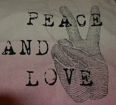 NWT Life Is Good Engraved Peace Love Messaging Tote