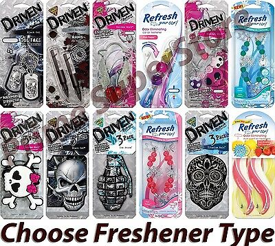 1-4 3D /Paper Air Freshener Choose Scent Mirror Hanging Car Truck RV Home Office