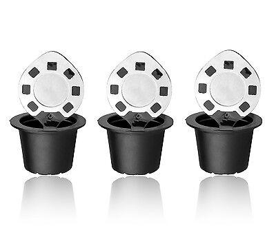 Reusable Nespresso Capsules 3 Pack Refillable Pods For Original Line USA SELLER