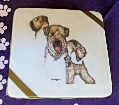 Wheaten Terrier Lovers Drink Coasters Set ( 4 )
