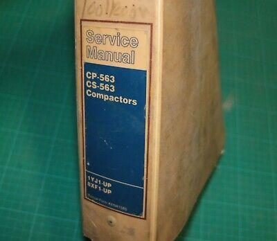 Cat Caterpillar Cs Cp 563 Compactor Repair Shop Service Manual Repair Owner Book