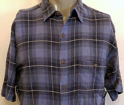 Patagonia Blue Tartan Plaid Casual Shirt Size Large Button Down Lightweight