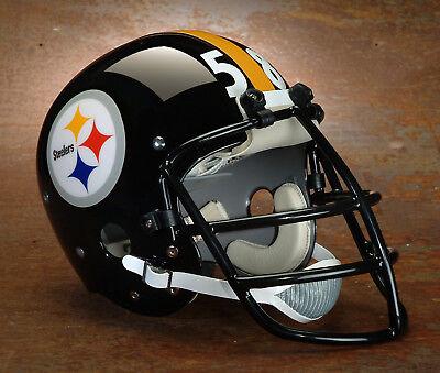 63a2b03a538 Pittsburgh Steelers style NFL Vintage Football Helmet - JACK LAMBERT  1977-1981