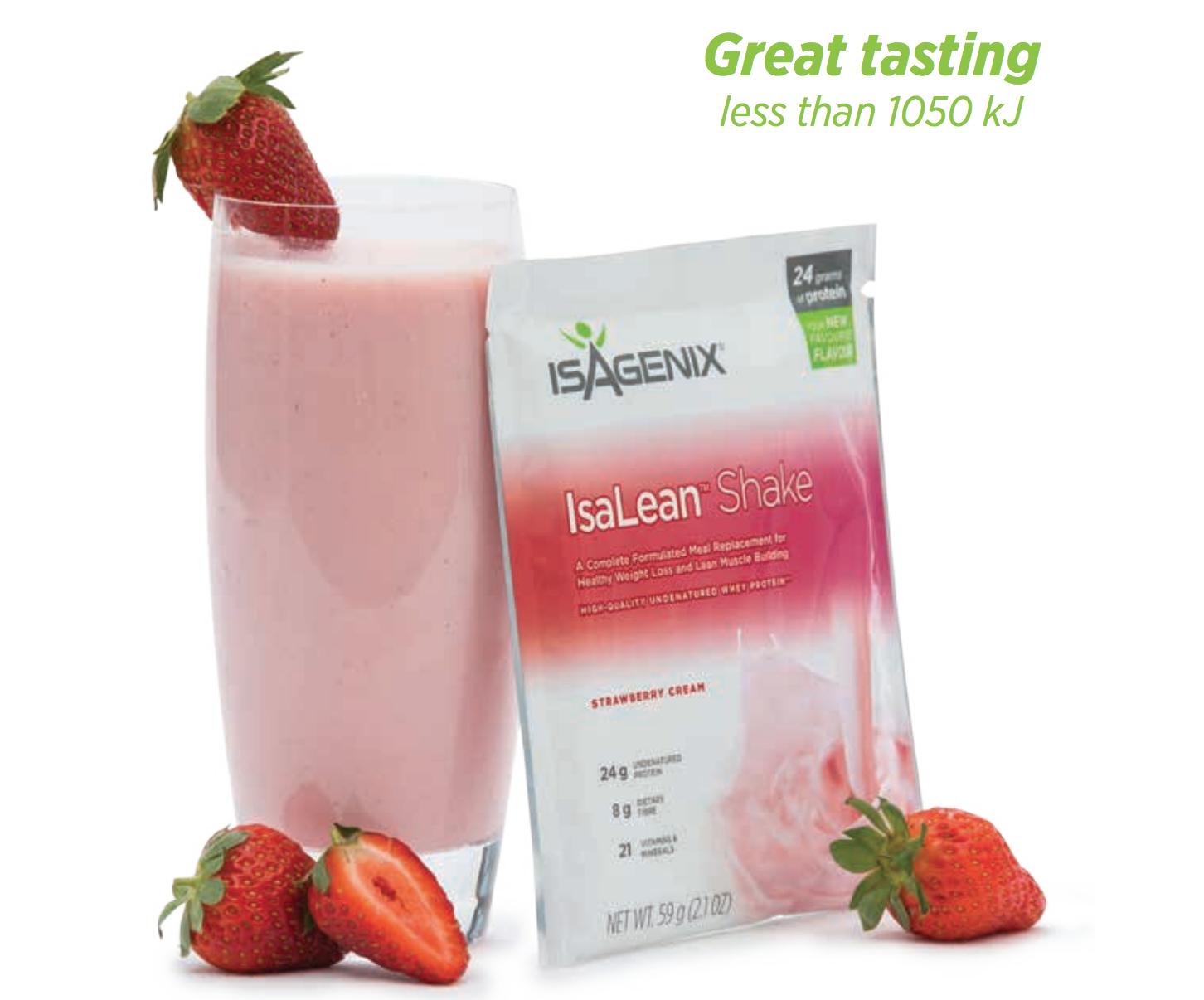 Isagenix Strawberry Cream High Protein Shake Packet Weight L