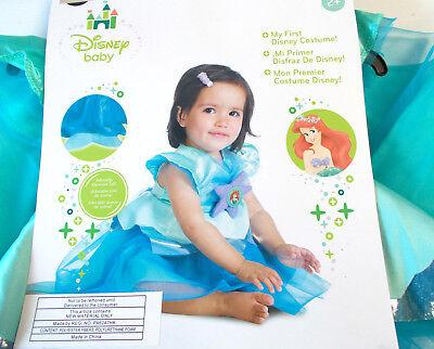 Disney Baby Ariel Child Toddler Costume 6-12M 12-18M 2T NIP