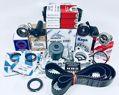 Toyota 3.4L/V6 Complete Timing Belt Water Pump Kit TOYOTA Thermostat + Hyd Tens.