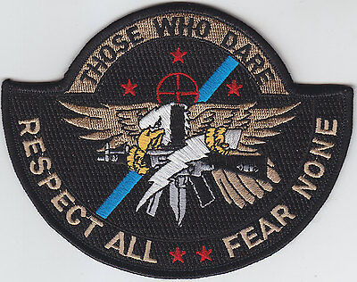 SWAT OPERATOR police patch THOSE WHO DARE/RESPECT ALL/FEAR NONE/Full Color