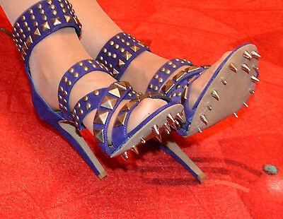 High Heels Stilettos Sandalette  Domina Spezialanfertigung mit Spikes Gr.38