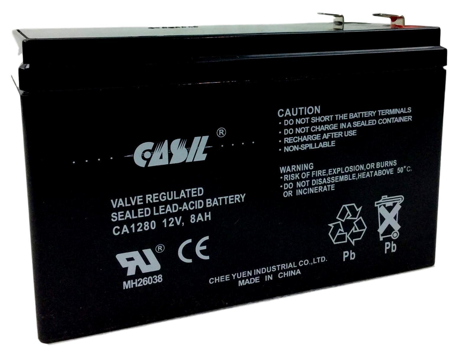 Casil 12V 8AH 7Ah 7.2ah Sealed Lead Acid Battery replaces GS