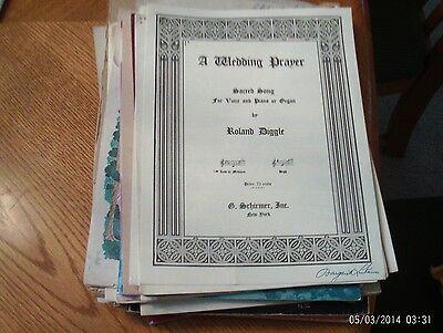 Diggle: A Wedding Prayer, med-low voice and piano (Schirmer)  (A Wedding Prayer)
