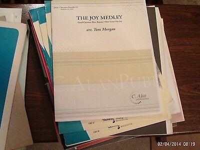 Tom Morgan: The Christmas Joy Medley, 11 player percussion ensemble (C -