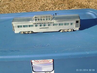 American Model Toys AMT Santa Fe Aluminum Metal O O27 Gauge Passenger Car